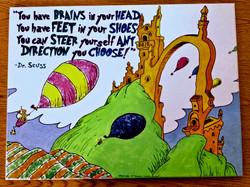 Dr. Seuss canvas