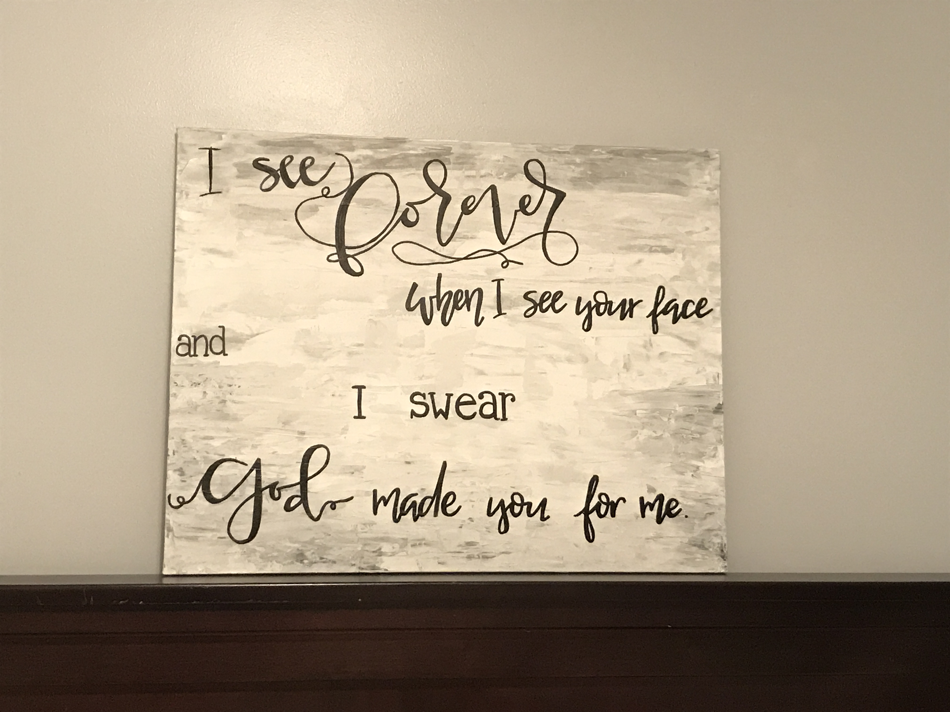 Forever | Painted and Hand-lettered with Acrylic on Canvas