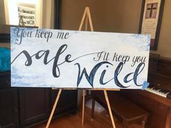 Keep Me Safe Sign