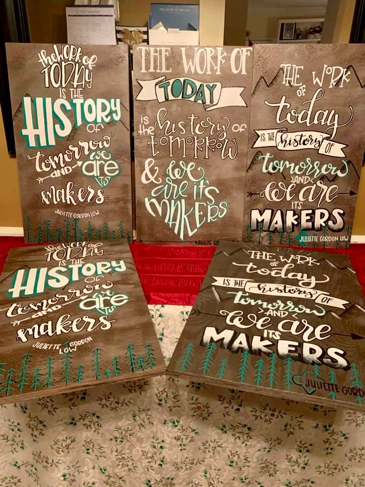 Girl Scouts Wooden Signs