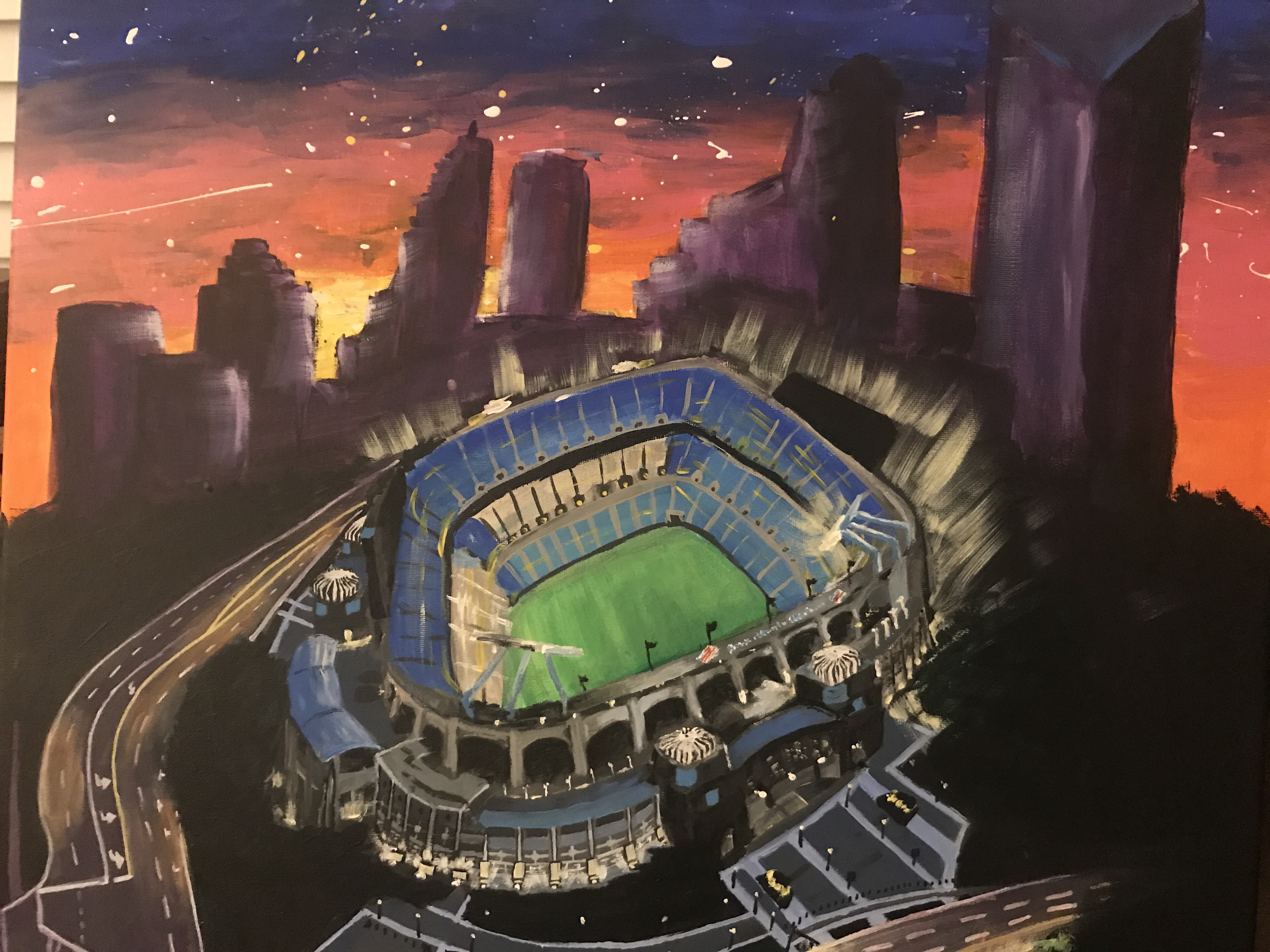Panther's Stadium, Charlotte, NC | Acrylic on Canvas