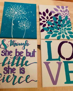 Girls Room Canvases