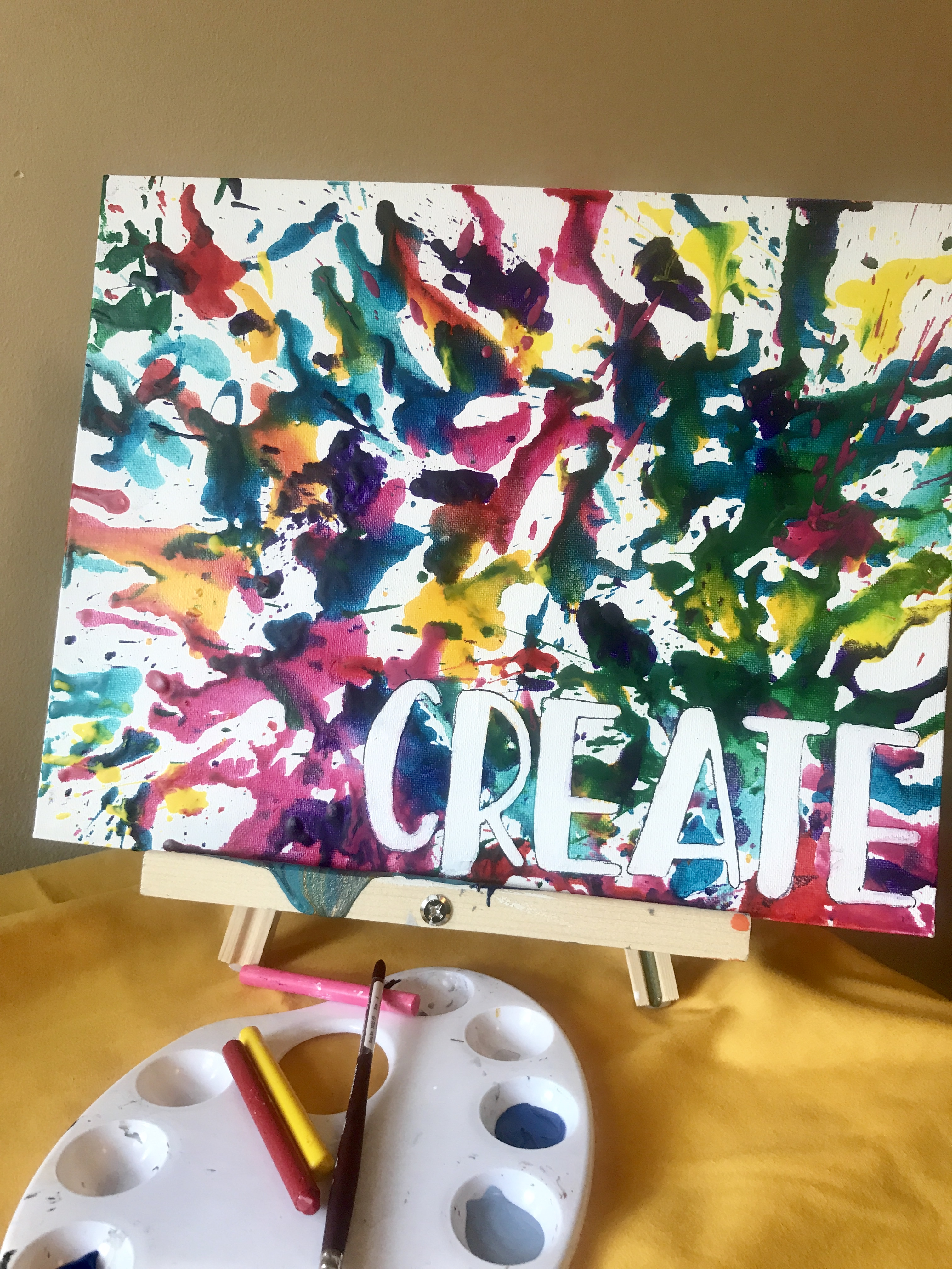 Create | Melted Crayon on Canvas