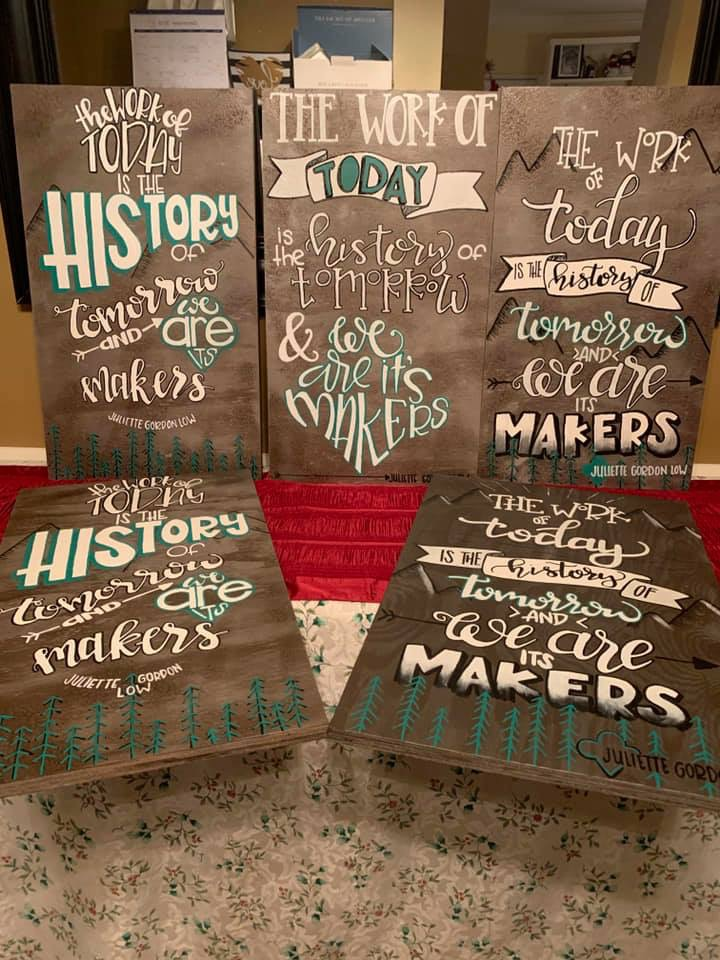Girl Scout Wooden Signs