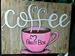 coffee sign for business