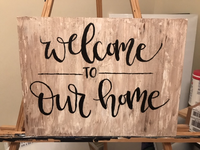 Welcome Home | 12x16 Wooden Sign