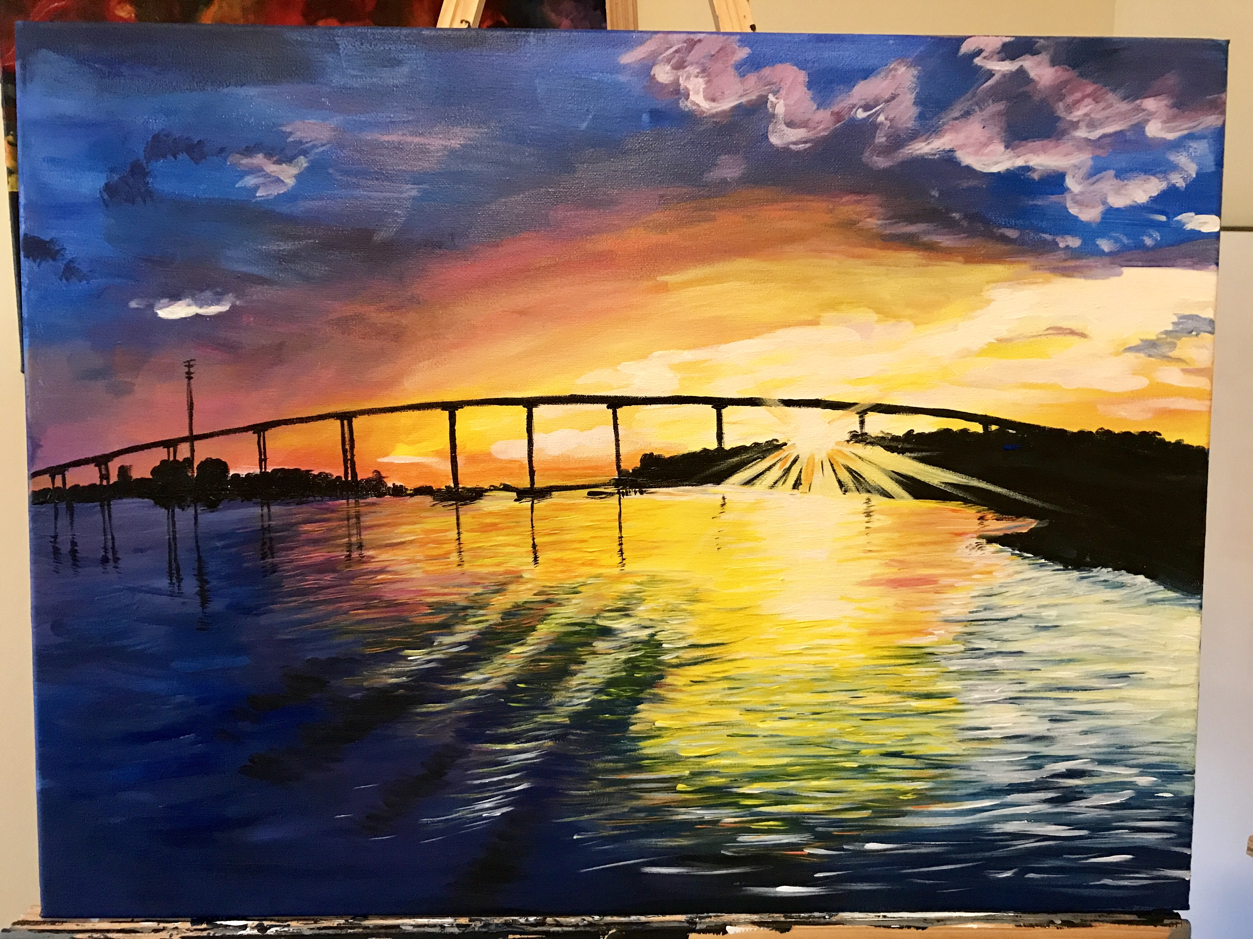 ocean isle sunset | Acrylic on Canvas.jpg
