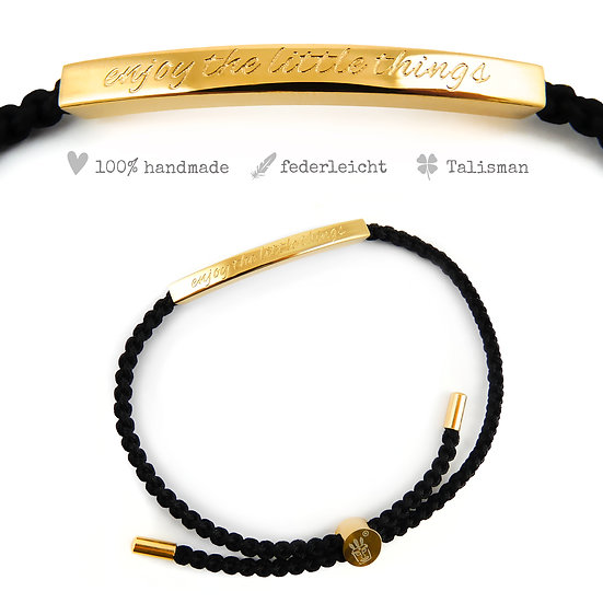 """Statement Armband """"Enjoy the little things"""""""