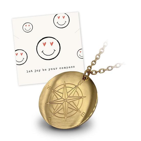 Halskette Kompass - 18k vergoldet