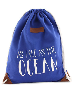 Turnbeutel As Free As The Ocean Atlantisblau