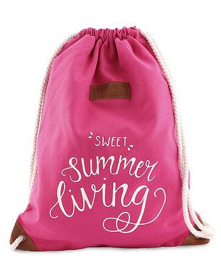 Turnbeutel Sweet Summer Living Pink