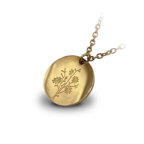 Halskette Wildblumenstrauß - 18k vergoldet