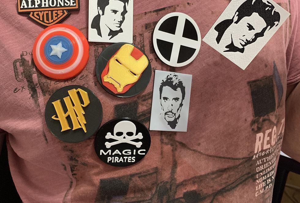Pins - Badge - Personnalisé