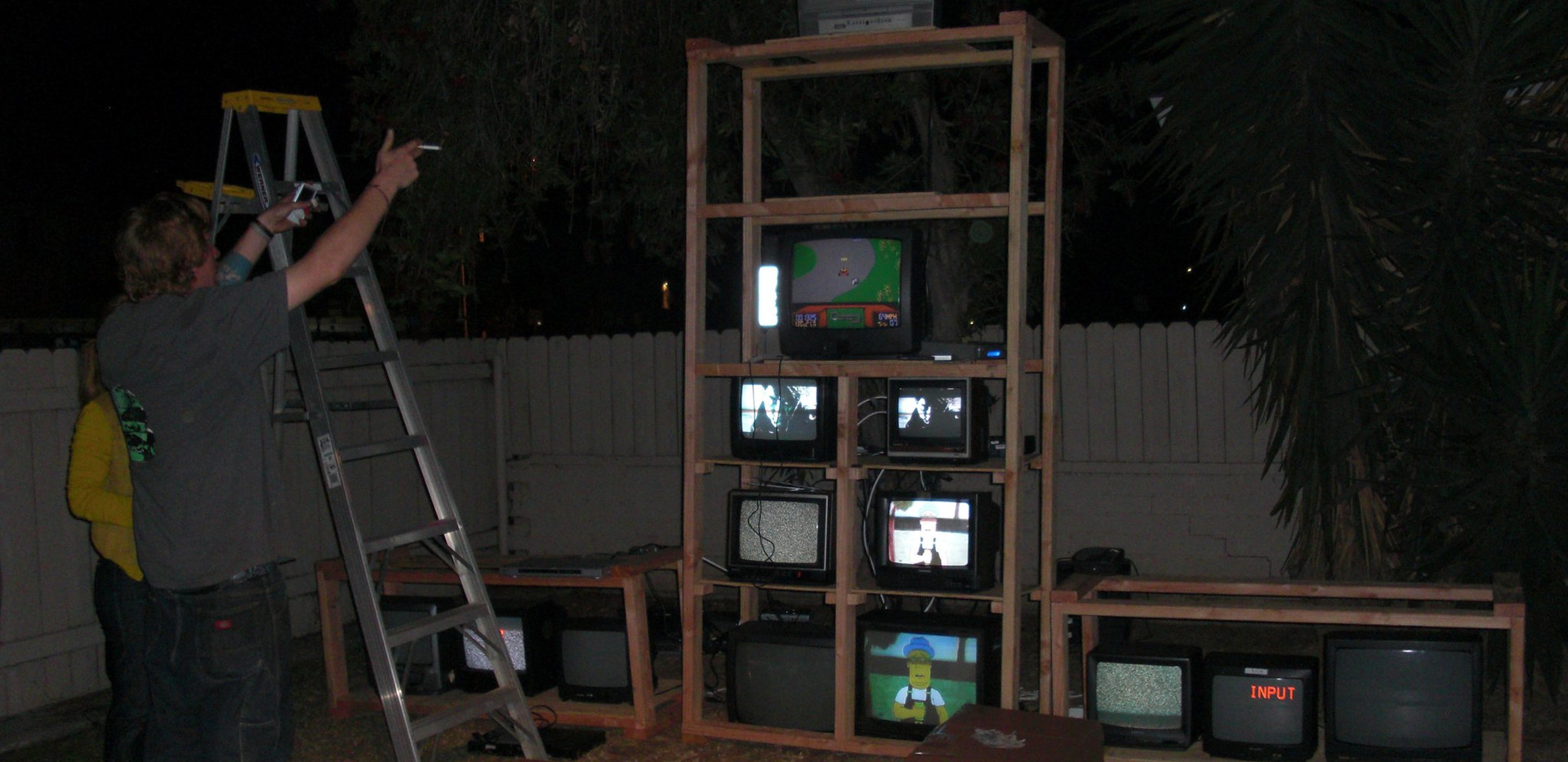 TV MONSTER under construction.