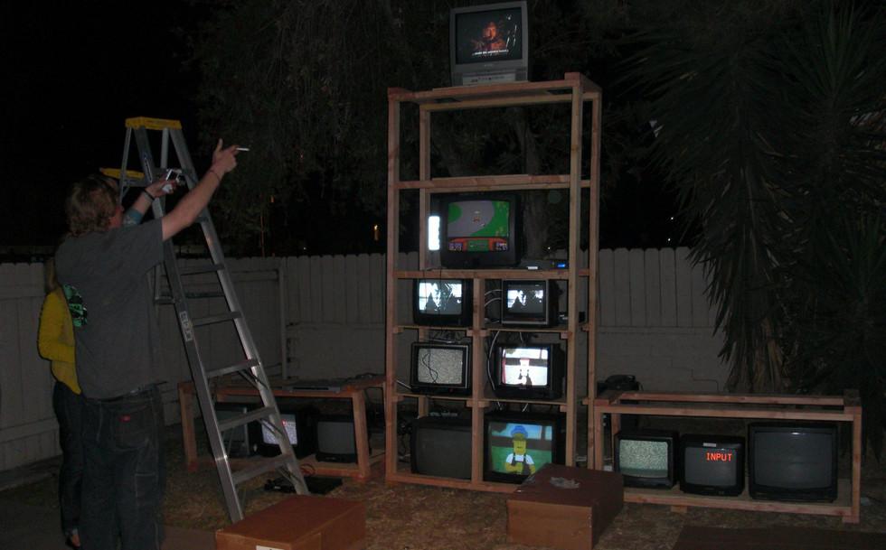 TV MONSTER under construction.