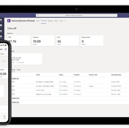 Preview: Dynamics 365 for Human Resources + Microsoft Teams