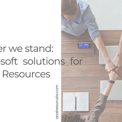 Together we stand: at least 7 Microsoft solutions for HR