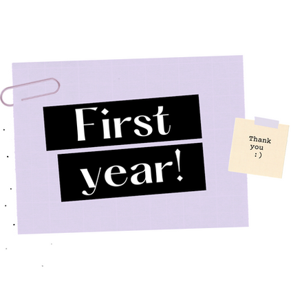 🎉 Happy First Year 🎉