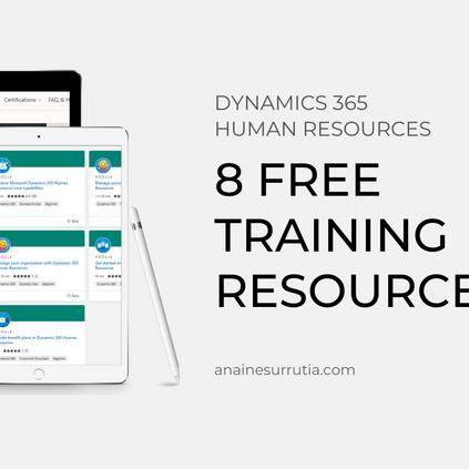 D365HR: 8 free training resources.