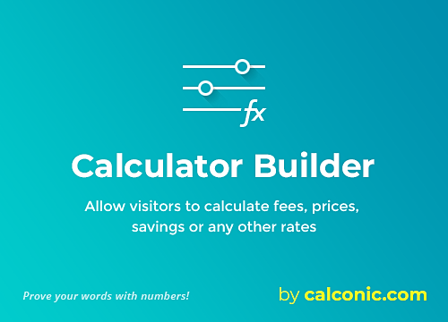 Calculator Builder Overview | WIX App Market | Wix com