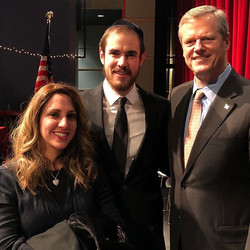 It was an honor and a pleasure to meet Governor Charlie Baker! Such a nice man..