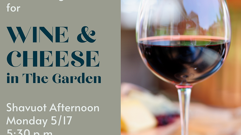 Wine & Cheese in the Garden