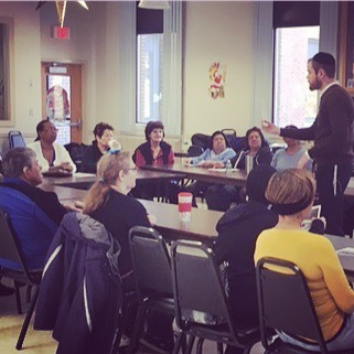 Sharing the joy of Chanukah with the lovely people at Chelsea Senior Center!_#happychanukah  #chanuk