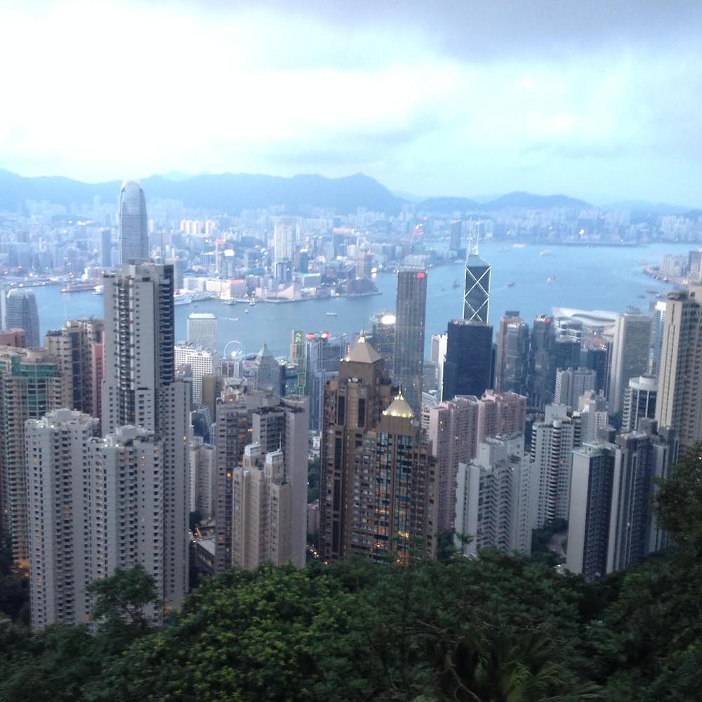 Hong Kong visto do morro