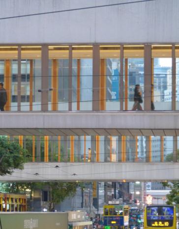 Passarela de pedestres em Hong Kong