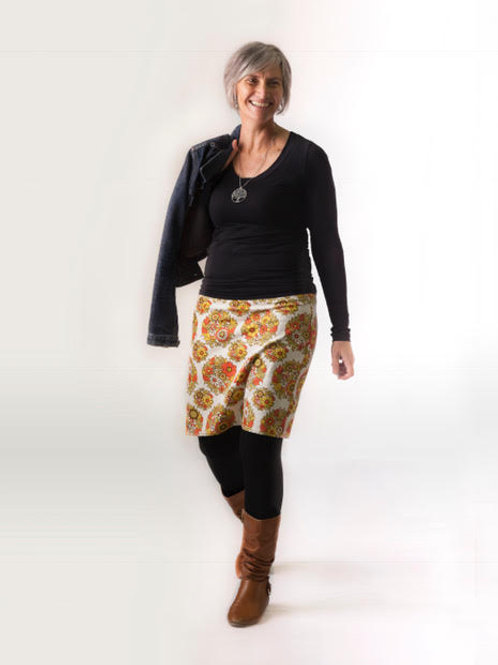 Straight Skirt (linen/cotton blend)