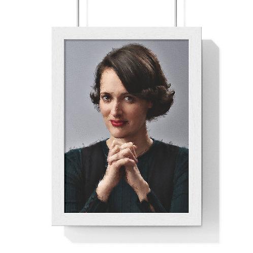 Phoebe Waller-Bridge Paint - Framed Poster