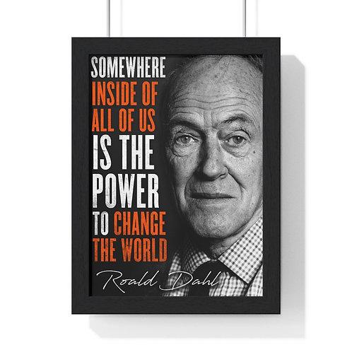 Roald Dahl Motivational Quote Frame