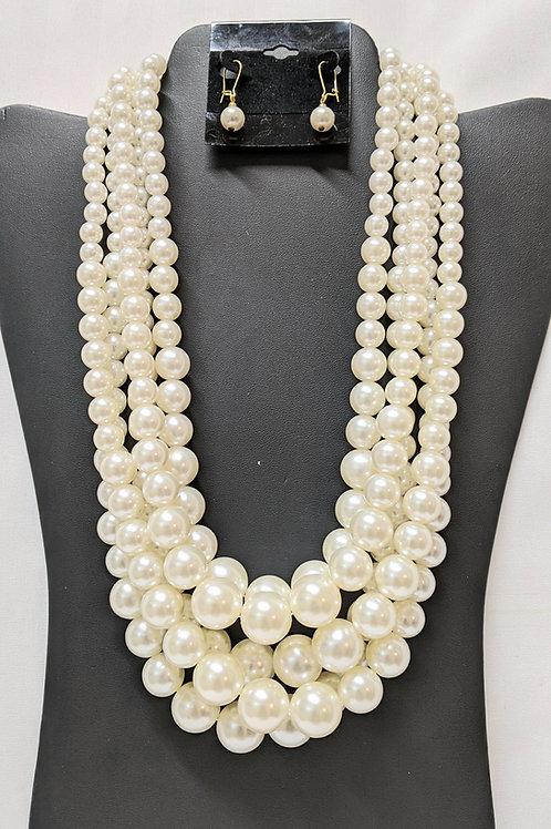5 row White Pearl Set