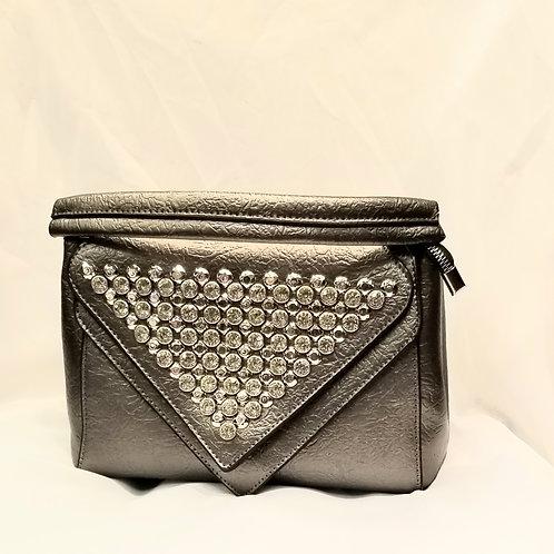 Grey Rhinestone Handbags