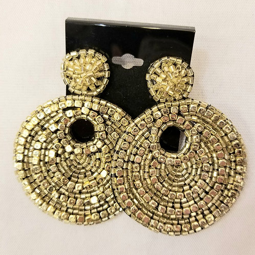 Gold Plated Indian Earrings