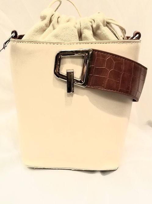 Beige Small Drawstring Handbag