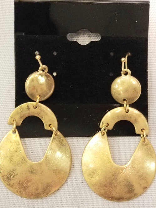 Gold Plated Pan Earrings