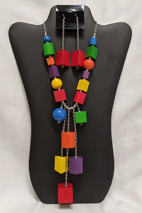Chunky Wooden Beaded Necklace