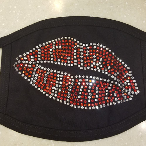 Lip Rhinestone Mask