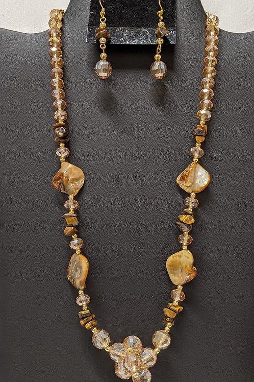 Tiger Eye Necklace Set