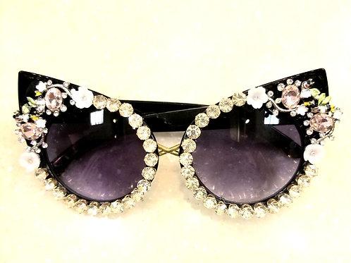 Cat Eyes Bling Sunglasses