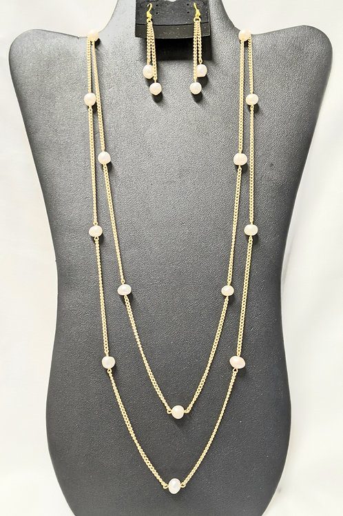 White 30 inch Freshwater Pearls Set