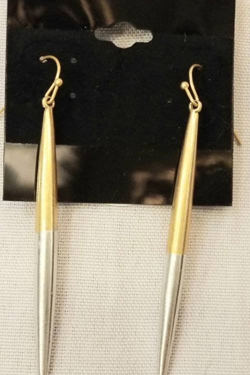 Gold Plated Pin Earrings
