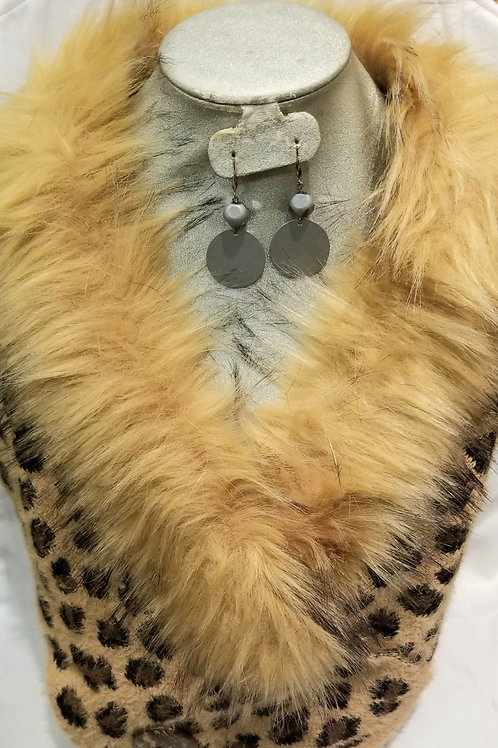 Leopard and Faux Fur Scarf