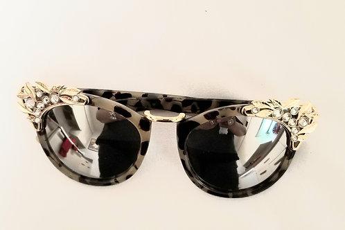 Leopard and Rhinestone Sunglasses