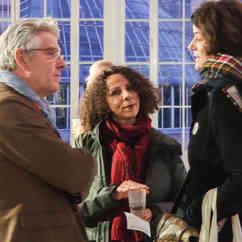 Jean & Fadela (au centre) Staff