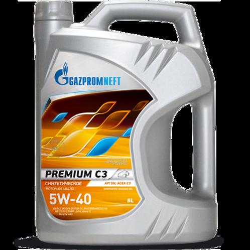 Gazpromneft Premium C3 Engine Oil 5W-40 - 5L