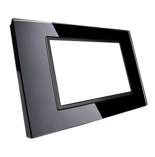 Interruttre HiVE Touch con placca in vetro bianco