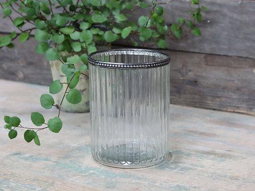 Chic Antique - Glas skjuler med perlekant og riller