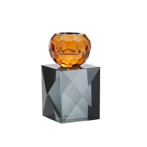 Miss Étoile - Krystal lysestage - amber/grey